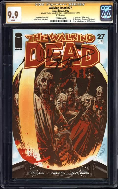 Walking Dead #27 CGC 9.9 signature series