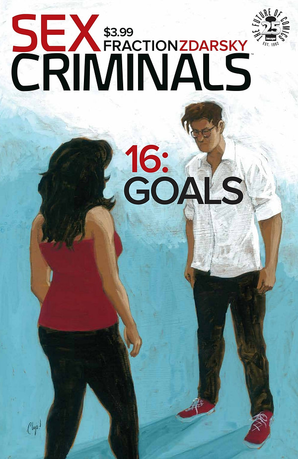Image - Sex Criminals #16 Front Cover - Jon and Suze face each other looking concerned.