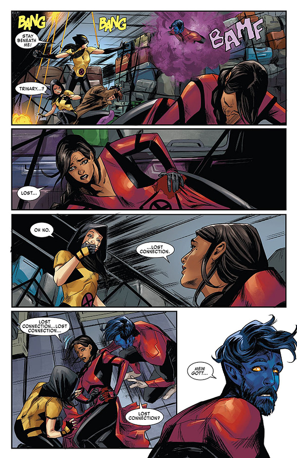 X-Men: Red #7 art by Carmen Carnero and Rain Beredo