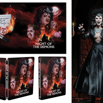 Night of the Demons Scream factory Steelbook with Angela NECA Figure 1