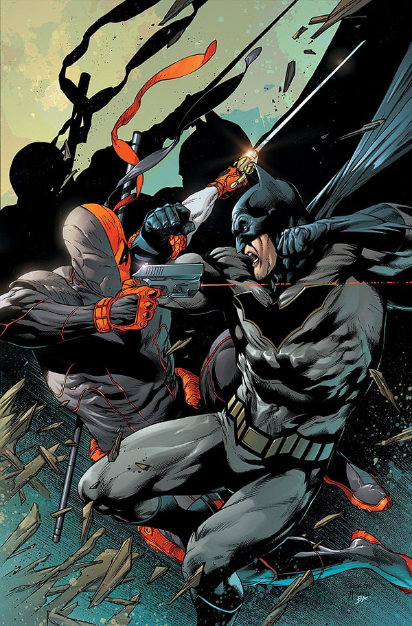 Deathstroke #32 cover by Robson Rocha, Daniel Henriques, and Brad Anderson