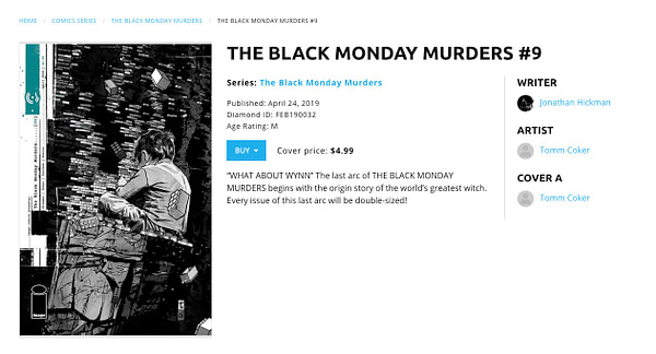 As Hickman's X-Men Cometh, Black Monday Murders Disappears from Diamond