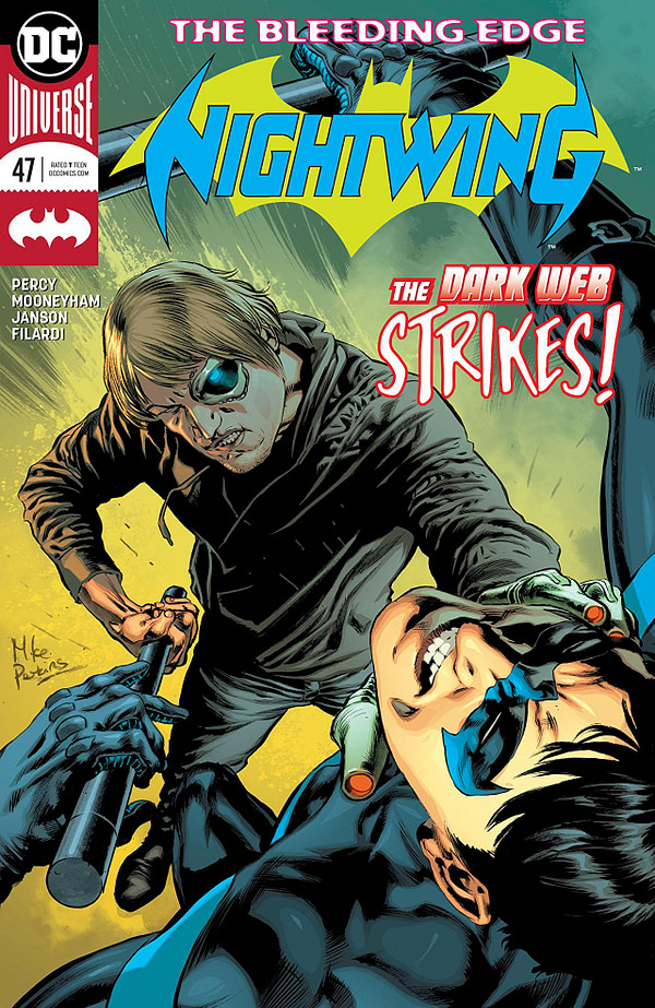 Nightwing #47 cover by Mike Perkins and Dave McCaig