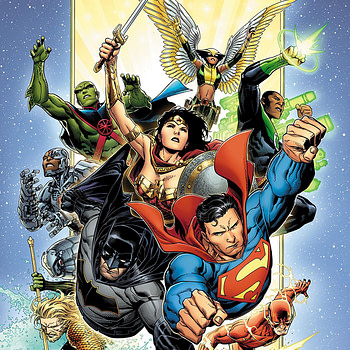 Justice League #1 cover by Jim Cheung and Laura Martin