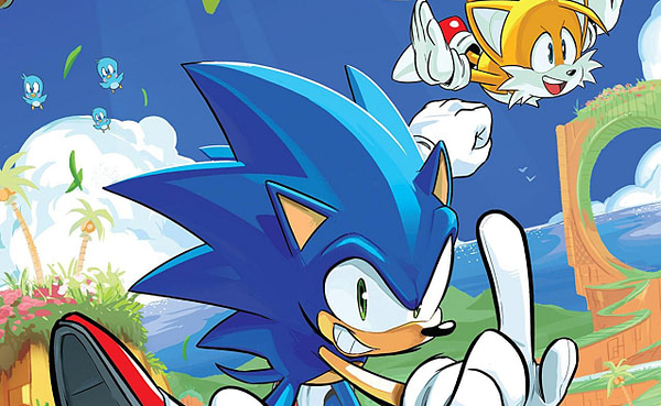 Sonic the Hedgehog #1 cover by Tyson Hesse