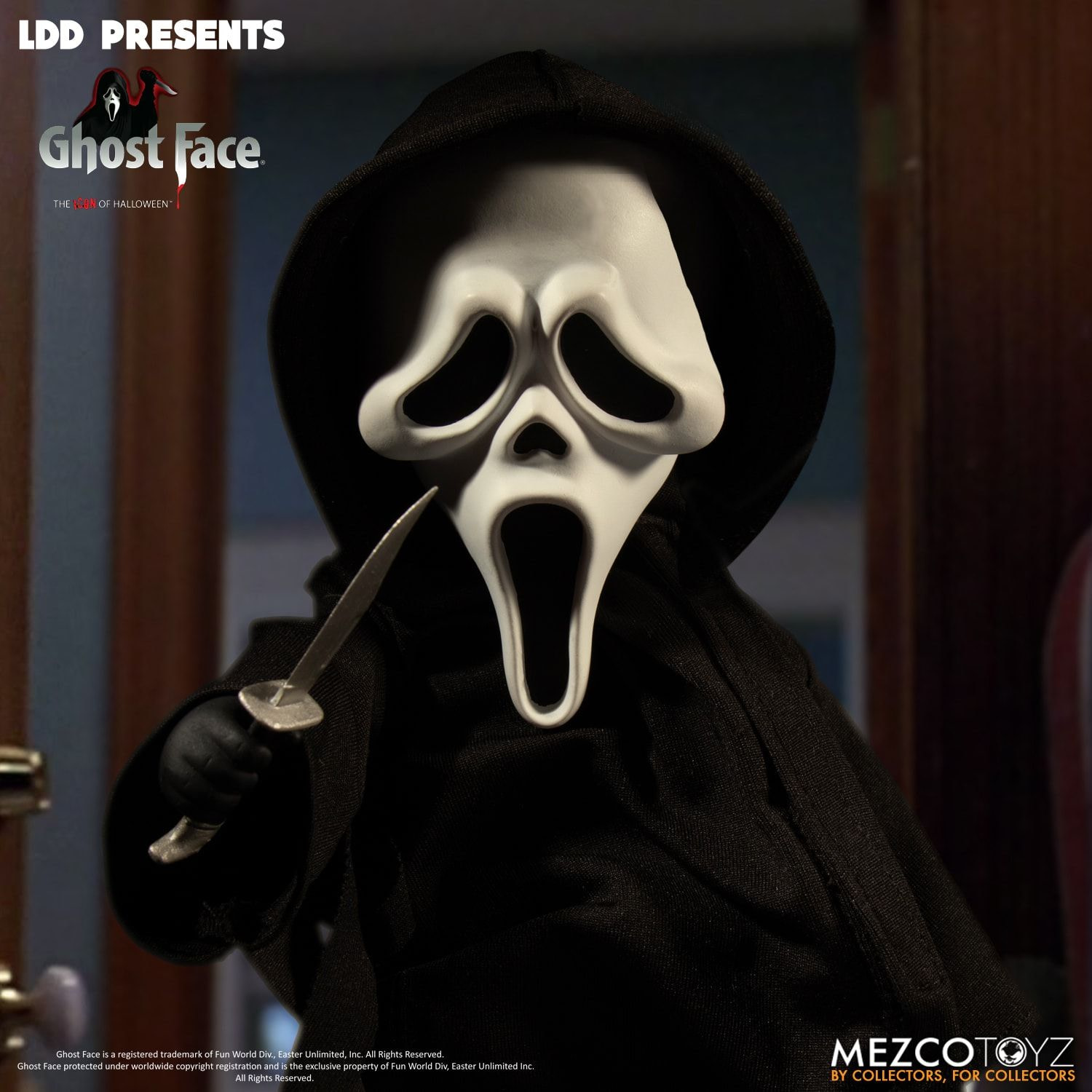 Ghost Face is Ready To Cut a Fool with Mezco Toyz LDD