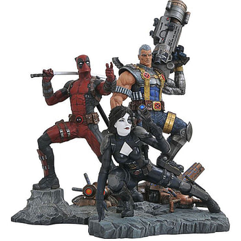 Diamond Select Toys Deapool Cable Domino Statues