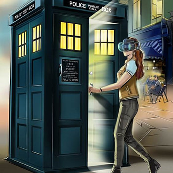 """The """"Doctor Who"""" TARDIS Comes To The VIVE Cosmos"""