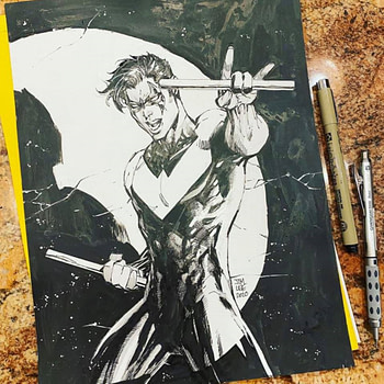 jim lee nightwing sketch