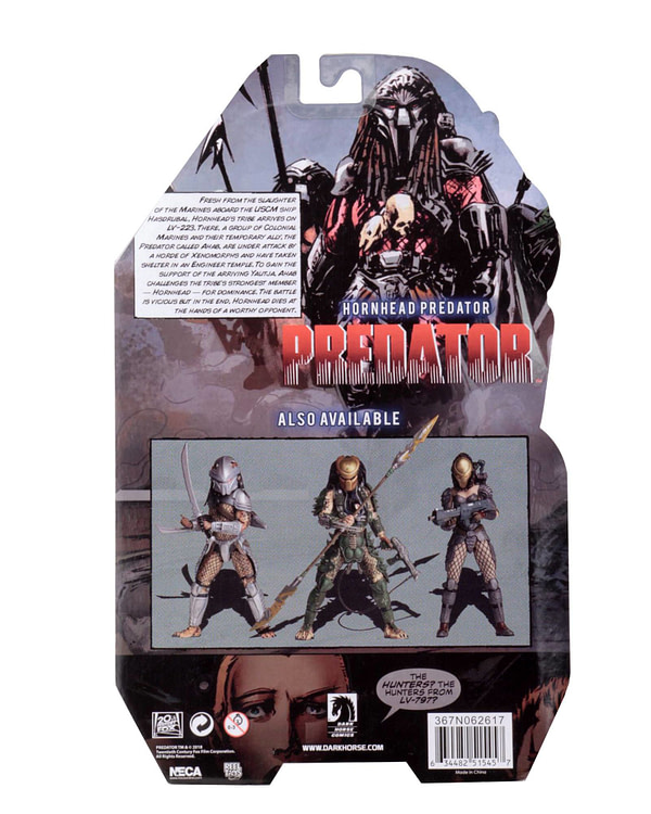NECA Hornhead Predator Packaged 2