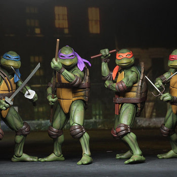 Sdcc 2018 NECA Exclusive TMNT 1990 Figure Set 11