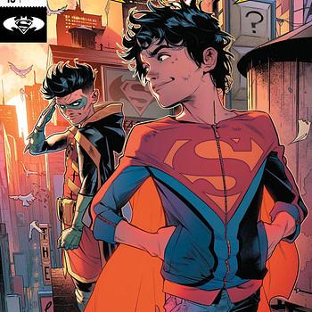 Super Sons #16 cover by Jorge Jimenez and Alejandro Sanchez