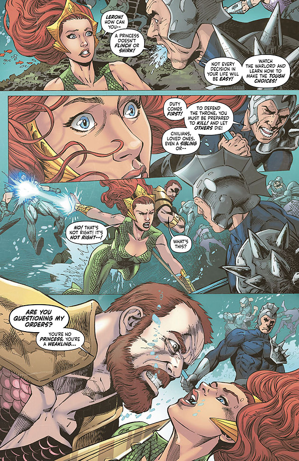 Mera: Queen of Atlantis #3 art by Lan Medina, Norm Rapmund, and Veronica Gandini