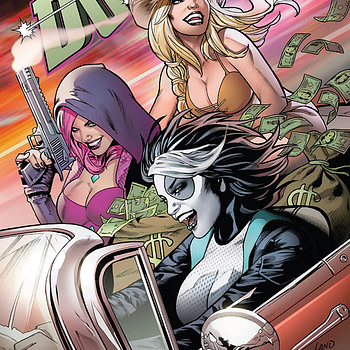 Domino #3 cover by Greg Land and Frank D'Armata