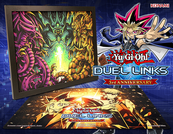 "Giveaway: ""Yu-Gi-Oh! Duel Links"" 3rd Anniversary Framed Print"