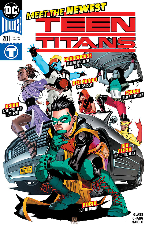 Teen Titans #20 cover by Bernard Chang and Wil Quintana