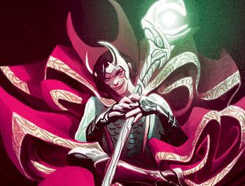 Loki. Doctor Strange #381 cover by Mike del Mundo