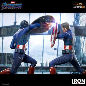 Captain America Fights Himself with New Iron Studios Statue