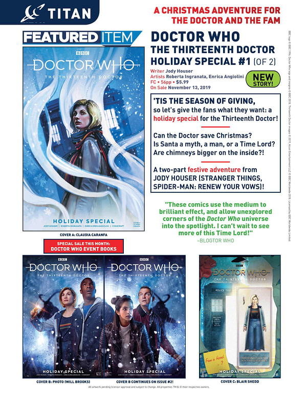 Doctor Who Get A Christmas Special - But Only In Comics