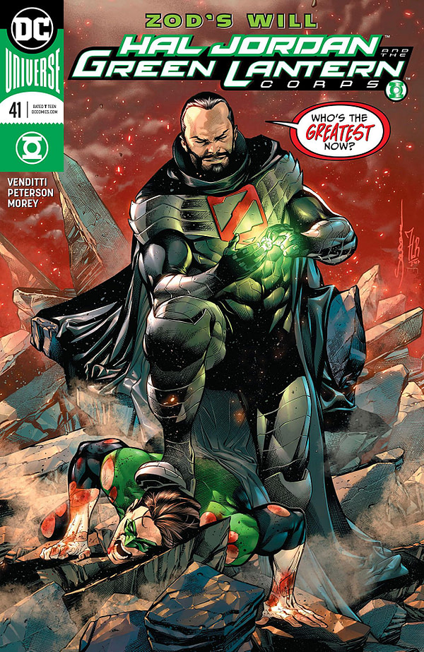 Hal Jordan and the Green Lantern Corps #41 cover by Rafa Sandoval, Jordi Tarragona, and Tomeu Morey