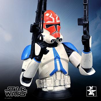 Star Wars 322nd Battalion Ahsoka Tano Clone Trooper Bust Statue, photo courtesy of Gentle Giant Ltd.