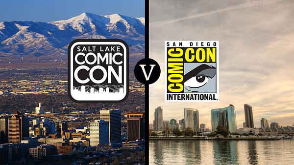 salt lake comic con v sdcc -- Salt Lake City skyline by Joseph Sohm, San Diego skyline by JJM Photography