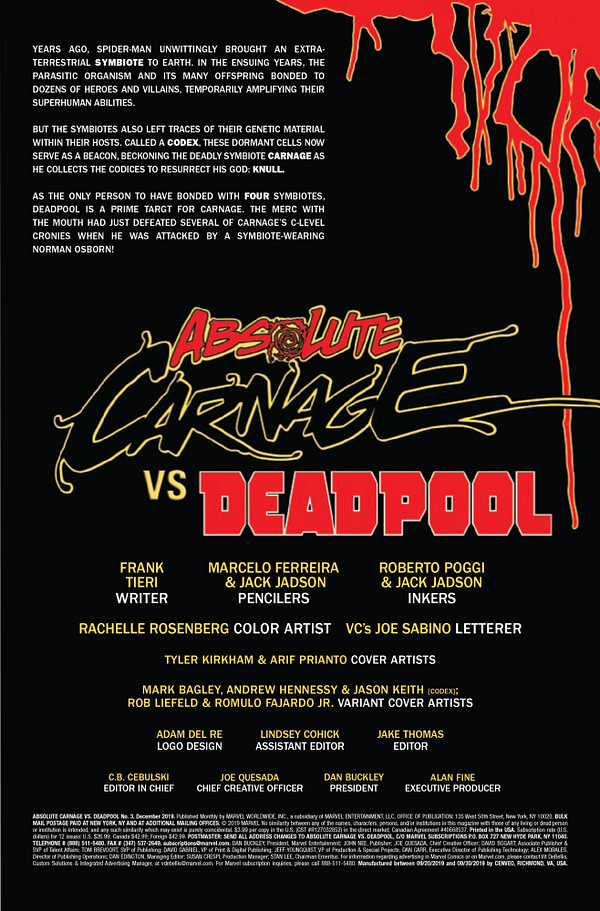 Absolute Carnage vs. Deadpool #3 [Preview]