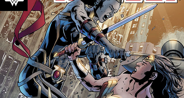 Wonder Woman #42 cover by Bryan Hitch and Alex Sinclair