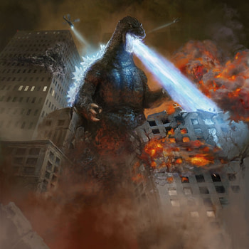 Godzilla King of the Monsters art mtg (Antonio Jose Manzanedo)