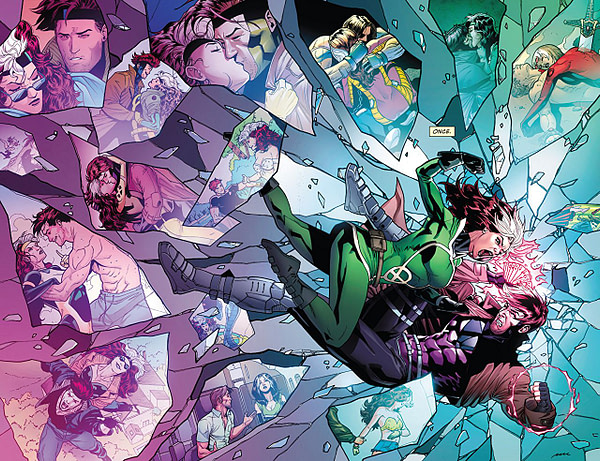 Rogue and Gambit #1 art by Pere Perez and Frank D'Armata