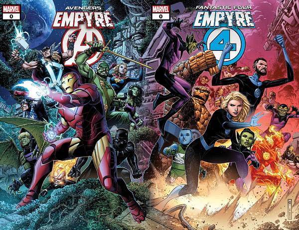 Empyre #0 Connecting Comic Book Covers, Marvel Comics