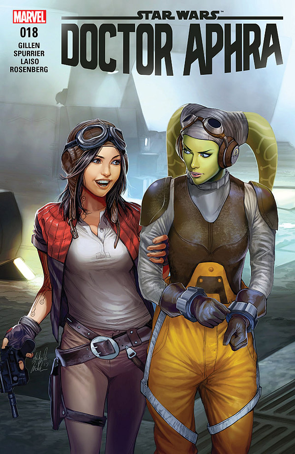 Star Wars: Doctor Aphra #18 cover by Ashley Witter