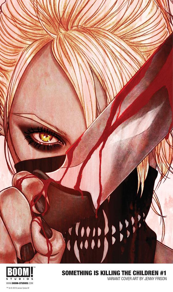 BOOM! Reveals Jenny Frison's Variant Cover for Something is Killing the Children #1