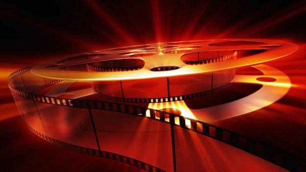 Film reel with shine. XXXL size background
