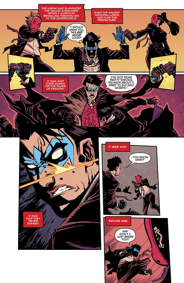 Nightwing #42 art by Jorge Corona and Mat Lopes