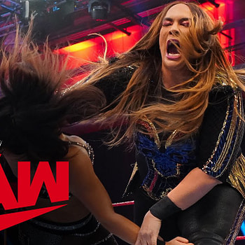 Nia Jax returns to crush Deonna Purrazzo onRaw, courtesy of WWE.