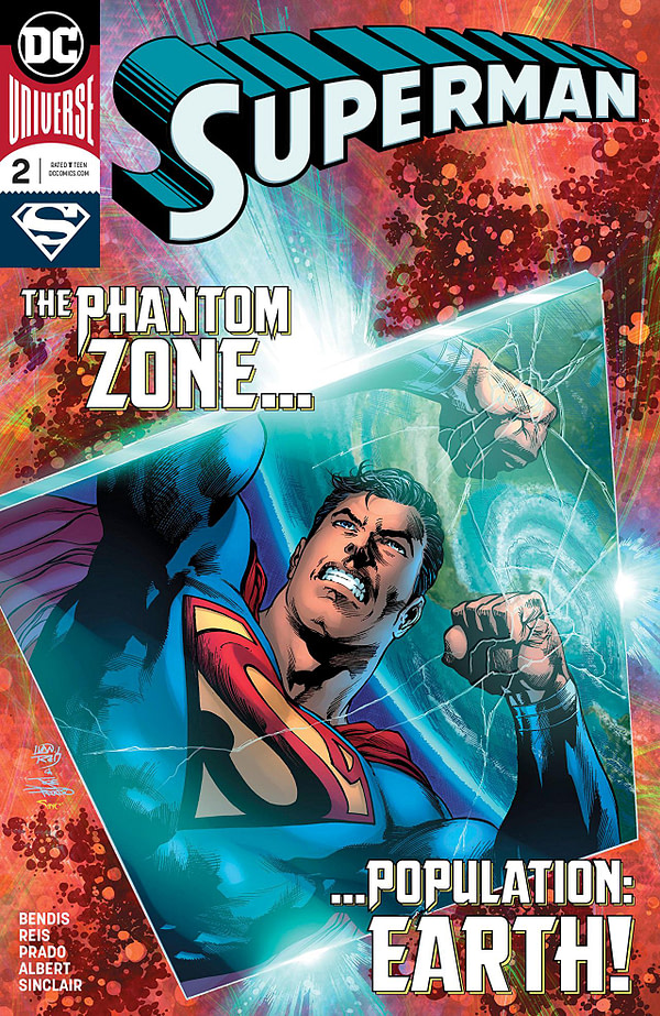 Superman #2 cover by Ivan Reis, Joe Prado, and Alex Sinclair