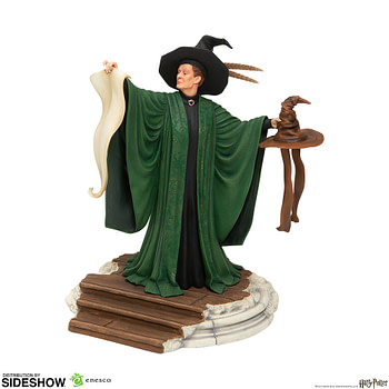 Professor Mcgonagall Calls upon the Sorting Hat in the New Statue