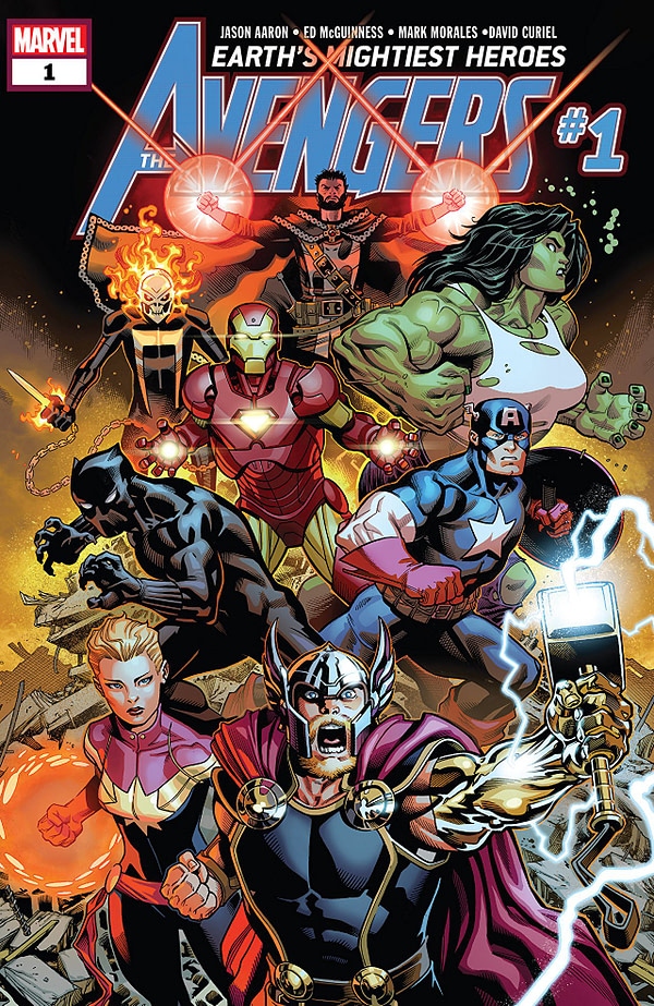 Avengers #1 cover by Ed McGuinness, Mark Morales, and Justin Ponsor
