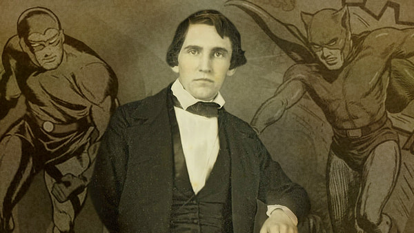 """""""The Republican"""" publisher and editor Samuel Bowles III (1826-1878), 1848 photo via the Bowles-Hoar Family Papers at Amherst College"""