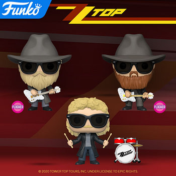 Funko Shows off Official Glams of Upcoming ZZ Top Pops