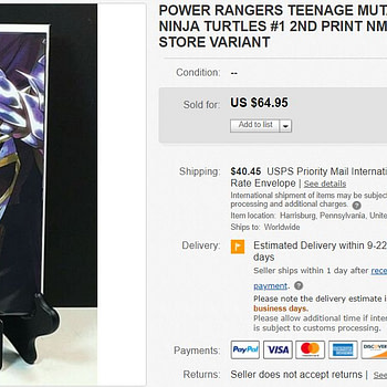 Mighty Morphin Power Rangers/Teenage Mutant Ninja Turtles #1 Second Printing 'Thank You' Variant Selling For Up to $65