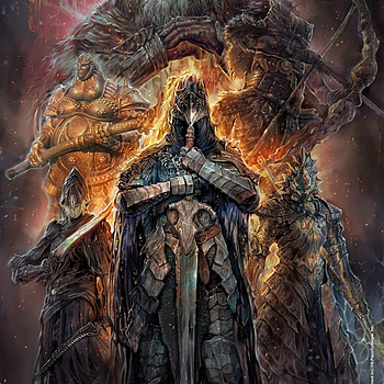 Dark Souls: Age of Fire #1 cover by Pablo Fernandez Angulo