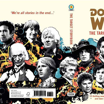 Colin Baker Signing His Own Doctor Who Prose at Forbidden Planet London Today - The Target Storybook