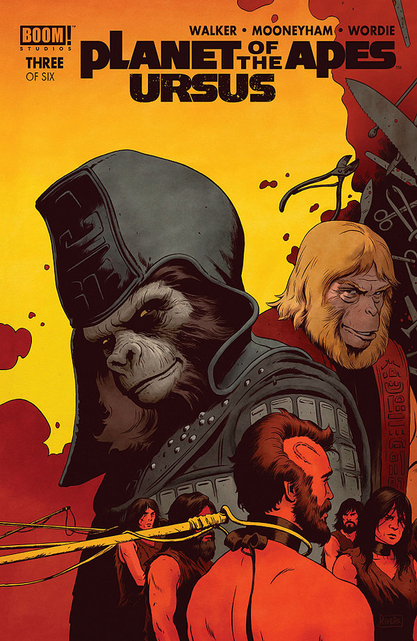 Planet of the Apes: Ursus #3 cover by Paolo Rivera