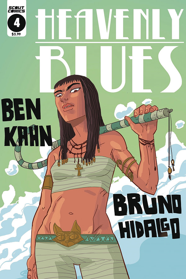Heavenly Blues #4 cover by Bruno Hidalgo
