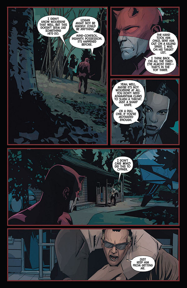Hunt for Wolverine: Weapon Lost #3 art by Matteo Buffagni and Jim Charalampidis
