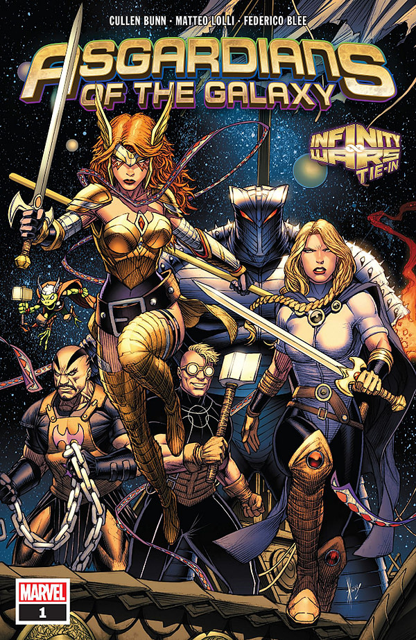 Asgardians of the Galaxy #1 cover by Dale Keown
