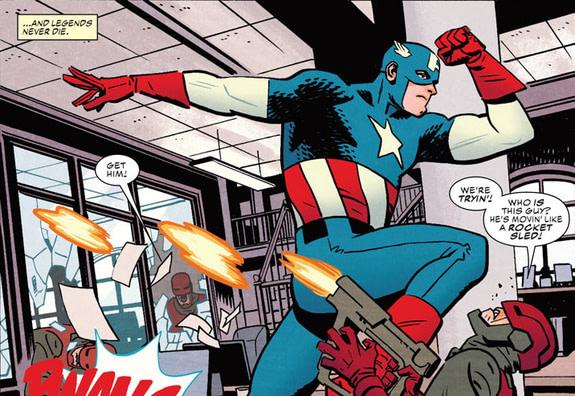 Captain America #695 art by Chris Samnee and Matthew Wilson