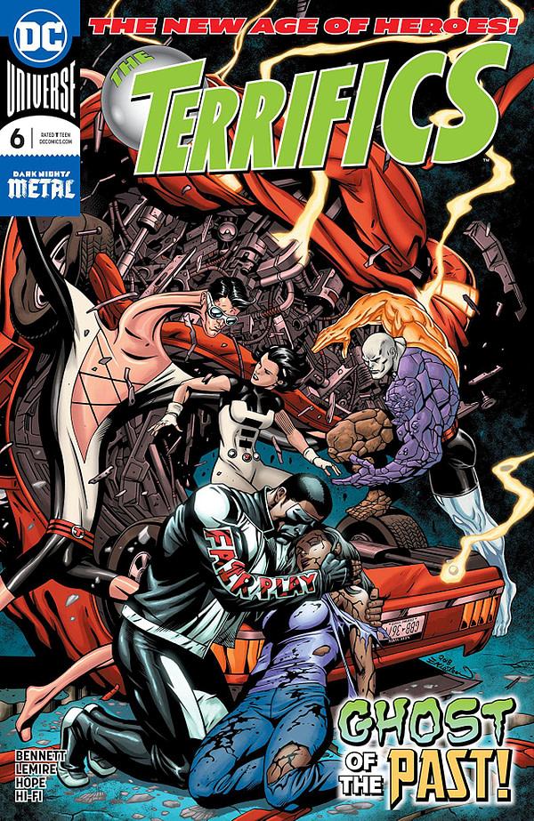 Terrifics #6 cover by Dale Eaglesham and Mike Atiyeh